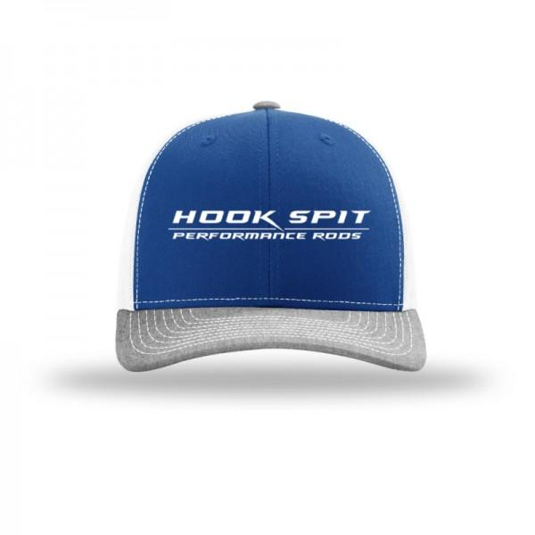 Hook Spit Performance Rods - Snap Back - Blue/Gray/White