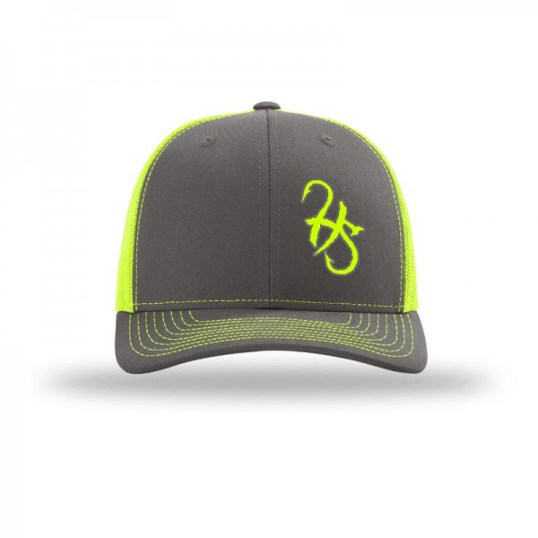 Hook Spit Fishing Gear - Snap Back - Gray/Yellow